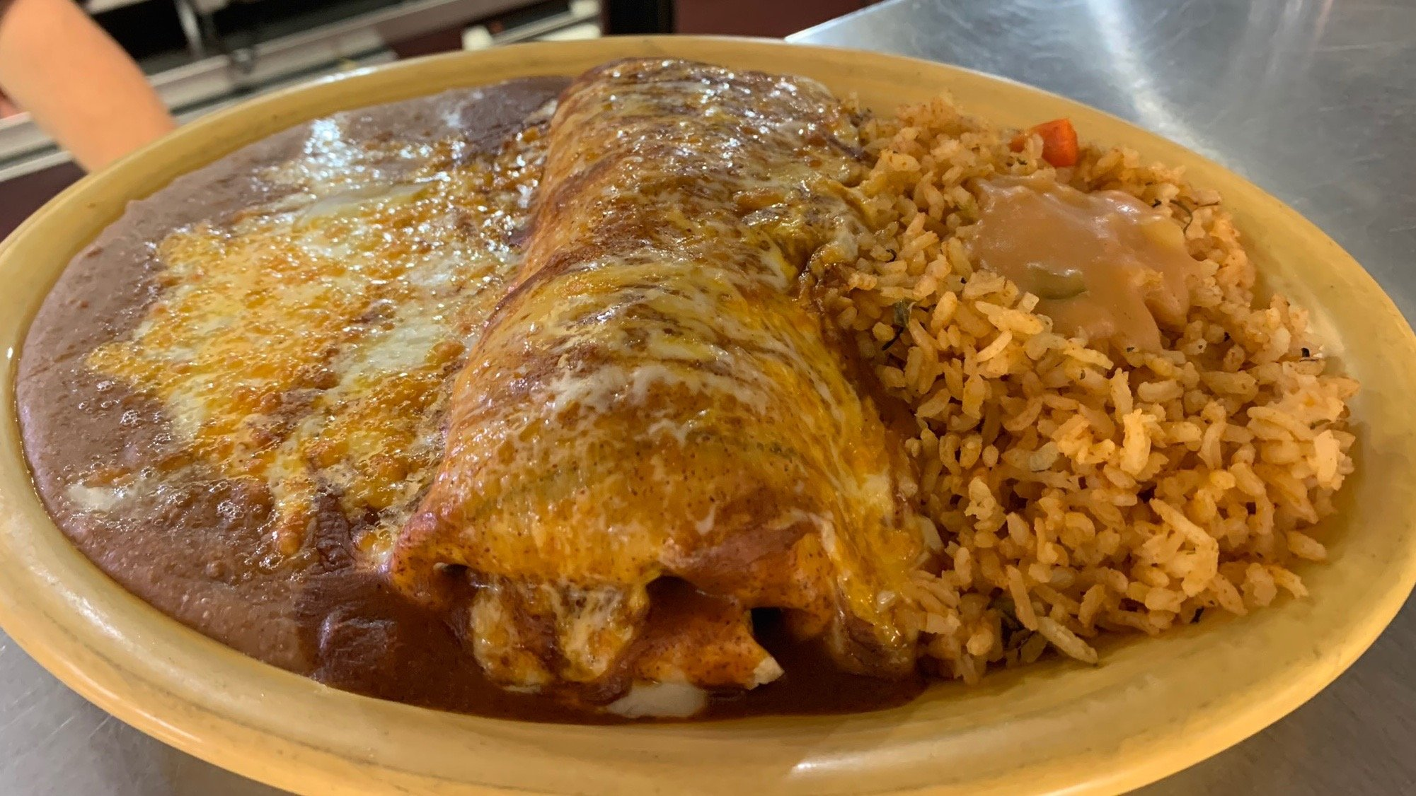 Beef burrito at Panco and Lefty's